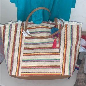 Tassel tote beach bag